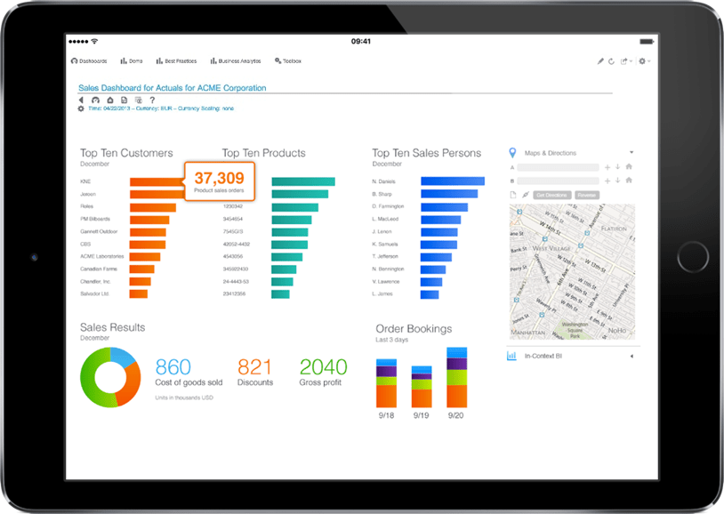 Dashboards for SunSystems