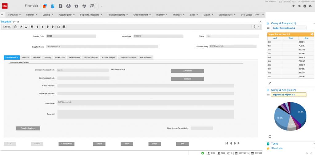 Purchase Ledger Screenshot